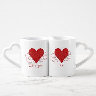 """Conjunto De Caneca De Café """"Ame-o tanto""""/""""amor que você demasiado"""" agride"""