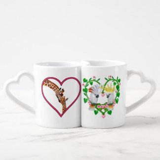 Conjunto De Caneca De Café Amor alto de cima de