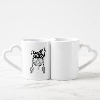 Conjunto De Caneca De Café Amor do lobo