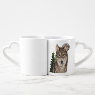 Conjunto De Caneca De Café arte do lobo