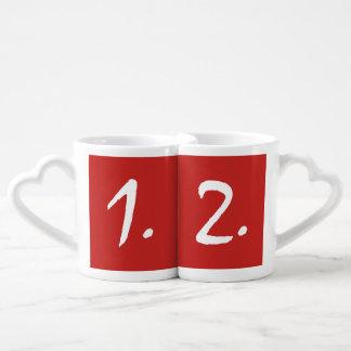 Conjunto De Caneca De Café Ás de amar - 1&2