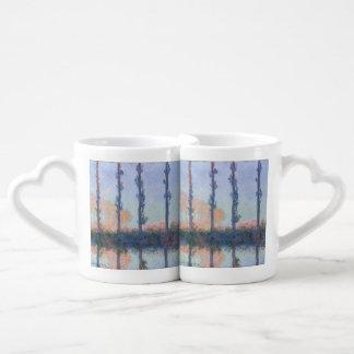 Conjunto De Caneca De Café As quatro árvores por Claude Monet