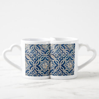 Conjunto De Caneca De Café Azulejo do português do vintage