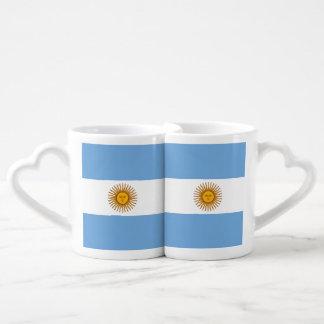 Conjunto De Caneca De Café Bandeira de Argentina