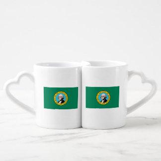 Conjunto De Caneca De Café Bandeira de Washington