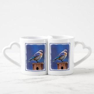 Conjunto De Caneca De Café Bluebird (fêmea)