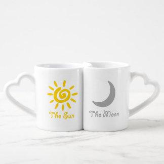 Conjunto De Caneca De Café Casais de Sun e de lua