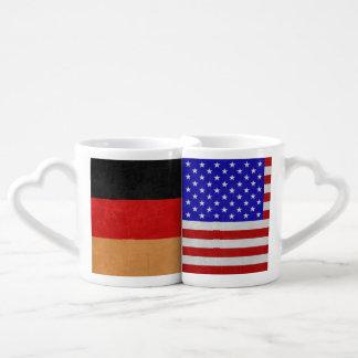 Conjunto De Caneca De Café Casal Alemão-Americano