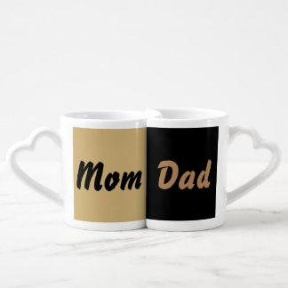 Conjunto De Caneca De Café Copo de querido Mom & Dad