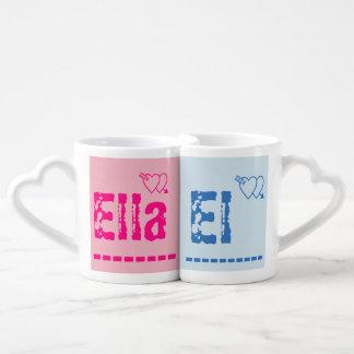 Conjunto De Caneca De Café Copos gêmeos de ELLA & de EL