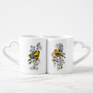 Conjunto De Caneca De Café Cor do fundo da U-Picareta dos pássaros & das
