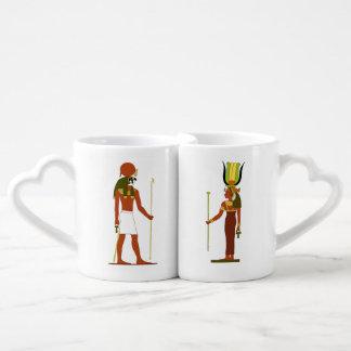 Conjunto De Caneca De Café Deus e deusa egípcios