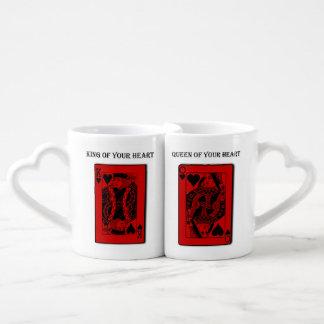 """Conjunto De Caneca De Café Do """"o amor do casal do dia dos namorados rei & da"""