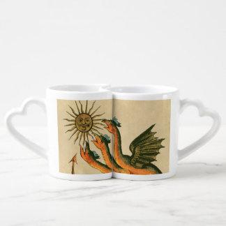 Conjunto De Caneca De Café Dragões de Clavis Artis