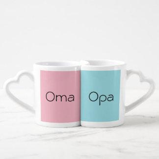 Conjunto De Caneca De Café Ein Paar Kaffeetassen de Opa do und de Oma