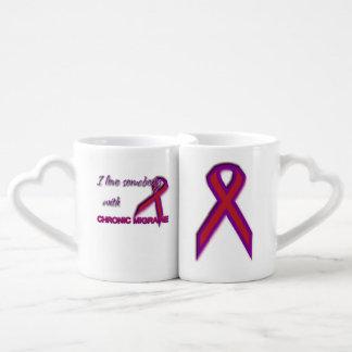 Conjunto De Caneca De Café Enxaqueca crônica - amor dos casais & grupo de