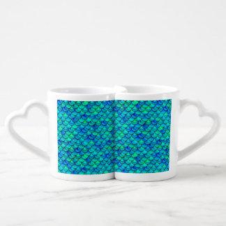 Conjunto De Caneca De Café Escalas do azul do Aqua de Falln