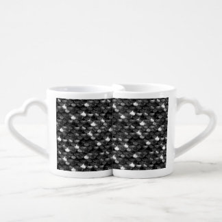Conjunto De Caneca De Café Escalas preto e branco de Falln