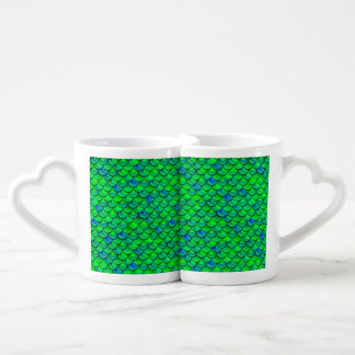 Conjunto De Caneca De Café Escalas verdes do azul de Falln