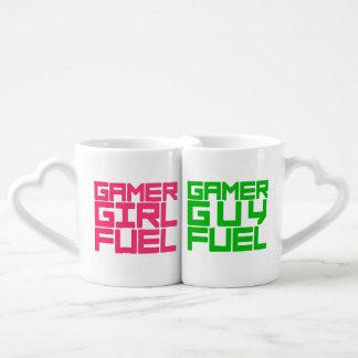 Conjunto De Caneca De Café Escolha o combustível do Gamer da menina ou da