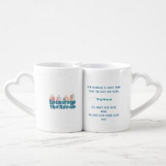 Conjunto De Caneca De Café Eu prometo amá-lo mais cada dia