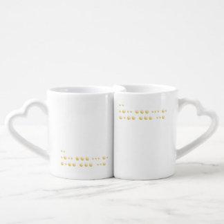 """Conjunto De Caneca De Café """"Eu te amo """""""