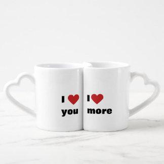 """Conjunto De Caneca De Café """"Eu te amo"""" e """"eu te amo mais """""""