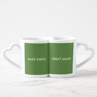 Conjunto De Caneca De Café Faça o excelente da terra (e o verde) outra vez!