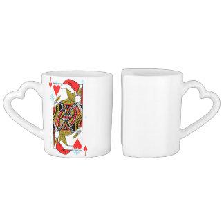 Conjunto De Caneca De Café Feliz Natal Jack dos corações - adicione suas