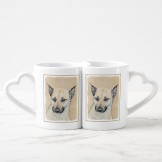 Conjunto De Caneca De Café Filhote de cachorro de Chinook (orelhas aguçado)