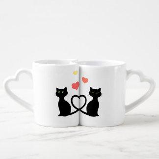 Conjunto De Caneca De Café Gatos no amor
