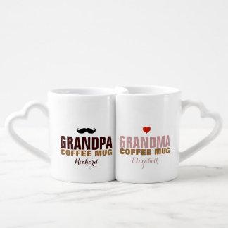 Conjunto De Caneca De Café ideia agradável do avô & do grandmom