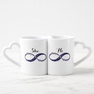 Conjunto De Caneca De Café Infinity Love