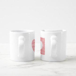 Conjunto De Caneca De Café labirinto dado forma coração
