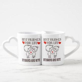 Conjunto De Caneca De Café Melhores amigos do marido e da esposa para a vida