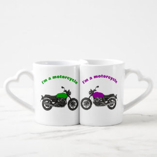 Conjunto De Caneca De Café Motocicleta