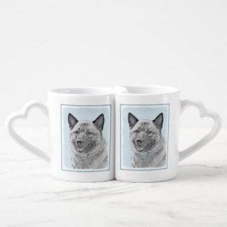 Conjunto De Caneca De Café Norueguês Elkhound