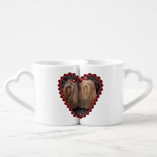 Conjunto De Caneca De Café O amor de Yorkie acopla copos