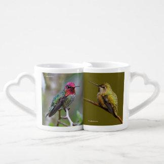 Conjunto De Caneca De Café O colibri de Anna no escarlate de Trumpetvine