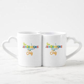 Conjunto De Caneca De Café Os engenheiros são em julho Z6n9z nascidos