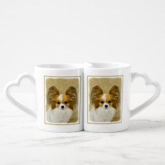 Conjunto De Caneca De Café Papillon (tri cor do cão)