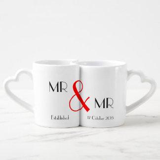 Conjunto De Caneca De Café Presente do Sr. & de casamento do Sr. Gay