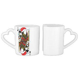 Conjunto De Caneca De Café Rainha do Feliz Natal das pás - adicione suas