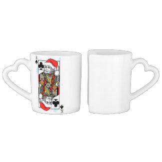 Conjunto De Caneca De Café Rei do Feliz Natal dos clubes