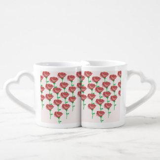 Conjunto De Caneca De Café Rosas