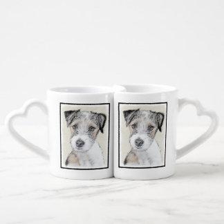 Conjunto De Caneca De Café Russell Terrier (áspero)