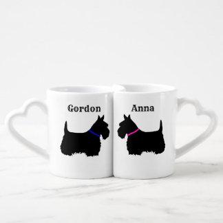 Conjunto De Caneca De Café Scottish Terrier, cão de Scotland, coração