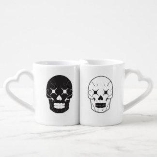 Conjunto De Caneca De Café Skulled junto