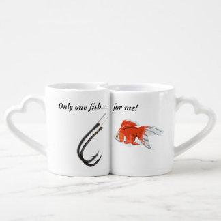 Conjunto De Caneca De Café Somente um peixe para mim