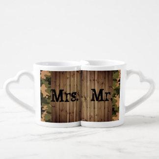 Conjunto De Caneca De Café Sr. e Sra. rústicos casamento de Camo do país